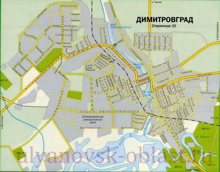 Karta Dimitrovgrada Na 2020 God Podrobnaya Rajony Nazvaniya Ulic